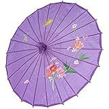 JapanBargain S 2173, Kidu0027s Size Chinese Japanese Oriental Parasol Umbrella  22 Inch, Purple Color