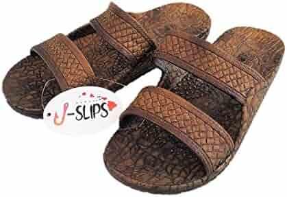 J-Slips Hawaiian Jesus Sandals/Jandals in 4 Cool Colors 16 US Sizes (Kids to Big Mens)