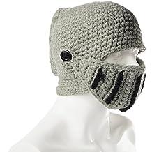 Xcellent Global Unisex Roman Knight Visor Helmet Cap Handmade Knitting Beanies Windproof Dustproof Hat Face Mask SP029
