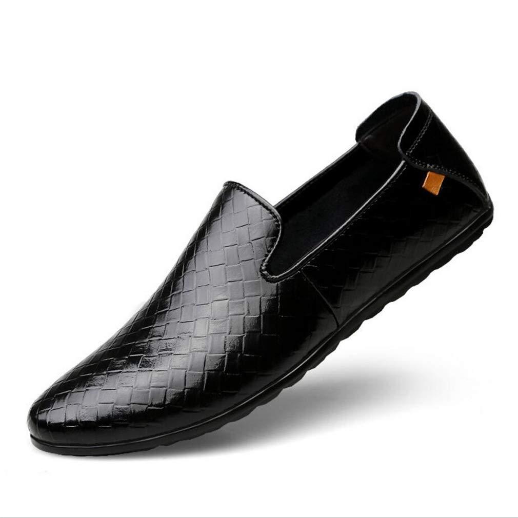 Zapatos de Vestir de Cuero para Hombres Zapatos 2018 Primavera y otoño Mocasines Casuales Respirable de Moda Slip On Soles Ligeros Zapatos de conducción Street Fashion 43 EU Segundo