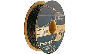 Proto-pasta CDP11705 Electrically Conductive Carbon Spool, PLA Composite 1.75 mm, 500 g, Black