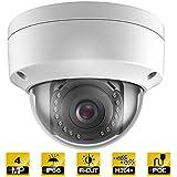 Hykamic Outdoor 4 Megapixels PoE Dome IP Security Camera-  IP66 Weatherproof, 2K HD (2.8mm Lens)