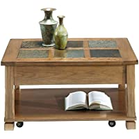 Progressive Furniture Rustic Ridge Cocktail Table, Light Oak/Slate