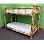 Midwest Log Furniture - Rustic Log Bunkbed - Twin Over Twin