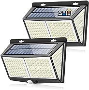 288 LED Luz Solar de Exterior, Salandens Mejoradas Paquetes Luces Solares 288 LED,3 Modos Lámpara Solar Exteri