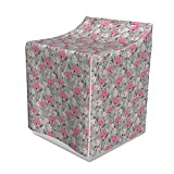 Ambesonne Floral Washer Cover, Repeating Pattern of
