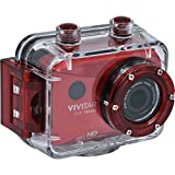 Action Cam Video Camera 1080p Full HD Camcorder Camera with 2.0 Screen and Remote Control 12.1 Megapixels MP - Waterproof Underwater Case included up to 3 Metres - Vivitar DVR786HD Digital Camera (Red)