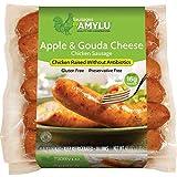Amylu Apple & Gouda Cheese Chicken Sausage, 48 oz (1 Pack)
