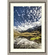 Framed Art Print 'Mount Tyndall, reflection in tarn at Cascade Saddle, Mount Aspiring National Park, New Zealand' by Colin Monteath
