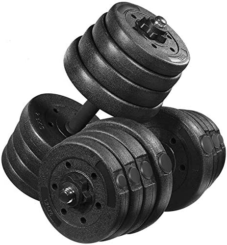 MOVTOTOP 66.14 LBS Adjustable Dumbbell Set, Multiple Dumbbell Weights Set for Men,Women, Beginner, Non-Slip Durable Dumbbell/Barbell Set for Home Workout, Exercise, Fitness, Gym, Training
