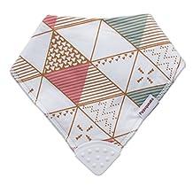 Pippsqueaks Baby Bandana Teething Bib - Triangles