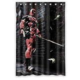 X Men Cool Deadpool Custom Waterproof Shower Curtain Bathroom Curtains 48x72 inches