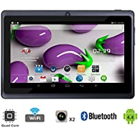 Tagital T7X 7 Quad Core Android 4.4 KitKat Tablet PC, Bluetooth, Dual Camera, Google Play Store, 2016 Newest Model (Black)