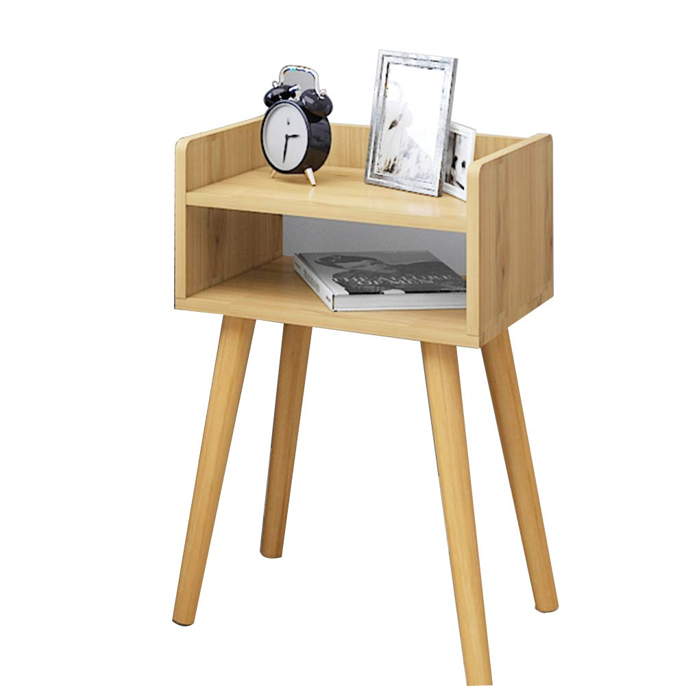 Wood-C As shown Tingting Simple Drawer with Door Economic Type Bedside Wood-Based Panel Four-Corner Support 7 Styles to Choose from (color   White-H, Size   As Shown)