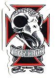 Birdhouse Tony Hawk Skull Skateboard Sticker. 9cm