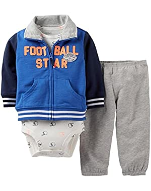 Carter's Baby Boys' 3 Piece Cardigan Set (Baby) (newborn, Blue)