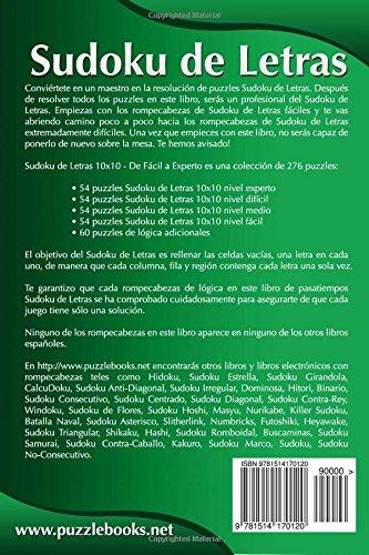 Sudoku de Letras 10x10 - De Fácil a Experto - Volumen 2 - 276 Puzzles: Volume 2: Amazon.es: Snels, Nick: Libros