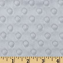Minky Cuddle Dimple Dot Platinum Fabric By The Yard