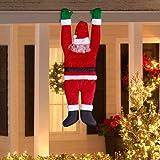 Gemmy Outdoor Decor Santa Hanging From Gutter