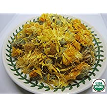 Organic Calendula Flower - Dried Premium Whole Loose Flower - by Nature Tea (2 oz)