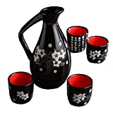 Japanese Style Ceramic Sake Sets Wine Cups Crafts for Japanese Cuisine, A