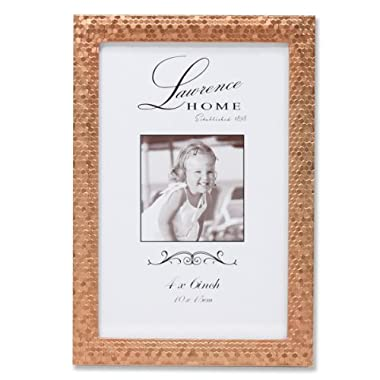 Lawrence Frames Rose Shimmer Metal Picture Frame, 4 by 6-Inch, Gold