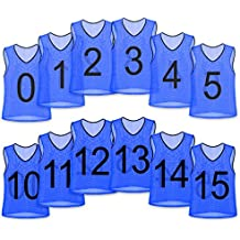 Unlimited Potential Nylon Mesh Scrimmage Team Practice Vests Pinnies Jerseys Bibs for Children Youth Sports Basketball, Soccer, Football, Volleyball