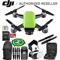 DJI Spark Portable Mini Drone Quadcopter (Meadow Green) EVERYTHING YOU NEED Starter Bundle