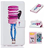 iPhone 5/5s/SE Wallet Case, Gxia Ultrathin PU Synthetic Leather Wristlet Magnet Snap Wallet [Credit Card/Cash Slots] Kickstand Flip Case Cover for Apple iPhone 5/5s/SE - 06
