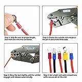 VLIKE Crimper Tool Kit A Self-adjustable Ratchet