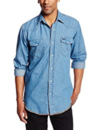 Wrangler Men's Authentic Cowboy Cut Work Western Short Sleeve Shirt