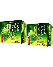 Itoen O ~ i Ocha Premium Matcha grönt te med rostad ris, japanskt grönt te Genmaicha med Matcha Uji och grillad ris, 1,8 g tepåsar, förpackning med 2 lådor (totalt 100 påsar), tillverkad i Japan