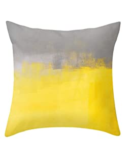 mgjyjy 45x45cm Velvet Pineapple Leaf Bright Yellow Home Sofa Square Throw Pillow Case Decorative Pillow Covers (13#)