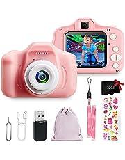 Kindercamera, digitale camera, speelgoed voor meisjes, jongens, videocamera HD 1080P voor alle kinderen, speelgoed, fotocamera, verjaardagscadeau voor 3, 4, 5, 6, 7, 8 jaar (roze)