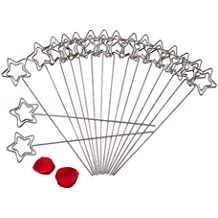 Craft Wires Base Photo Card Picture Memo Clip Holders Metal Clamp Clay Cake Accessories Decor Star Shape,50pcs