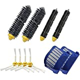 Theresa Hay 2 Blue AeroVac Filter + 2 set main Brush kit +4 side brush for iRobot Roomba 600 Series 610 620 630 650 660 Vacuum Accessory Replacment