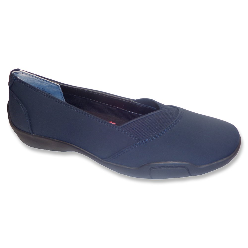 Ros Hommerson Cady N/S Round Toe Canvas Flats B00S30HGKQ 10.5 N|Navy Stretch