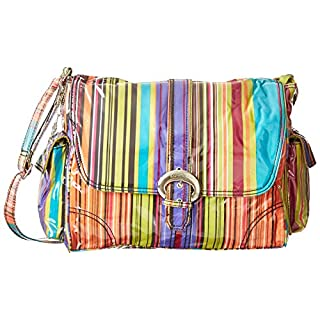 Kalencom Laminated Buckle Bag, Spize Stripes