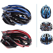 EverTrust(TM) Ultralight Sports Cycling Helmet with LED Taillight & Visor Durable Mountain Bike Bicycle Helmet Cascos Para Bicicleta 21 Vents