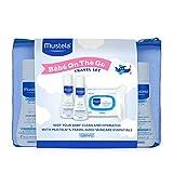 Mustela Bebe On the Go Set de regalo, cuidado de la piel del bebé y productos de baño de bebé, tamaño de viaje, 3 artículos, Nuevo empaque