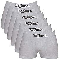 Kit 6 Cuecas Boxer Zorba 781 Algodão Sem costura