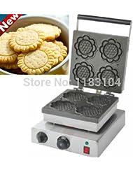 220v Electric Sunflower Cookie Maker Machine Waffle Iron Mold Baker