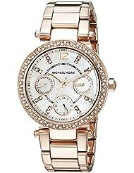 Michael Kors Womens Parker Rose Gold-Tone Watch MK5616