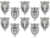 Pack of 10 Rosary Centerpiece Center Silver