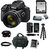 Nikon COOLPIX P900 Digital Camera (Black) with 32GB SD Card + Replacement EN-EL23 Battery for Nikon and Deluxe Accessory Bundle Review Review Image
