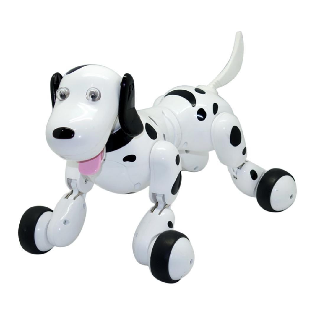 LCLrute 2018 777-338 RC Walking 2.4G Fernbedienung elektronische Haustiere Smart Dog Interactive Robot Hund (Schwarz)