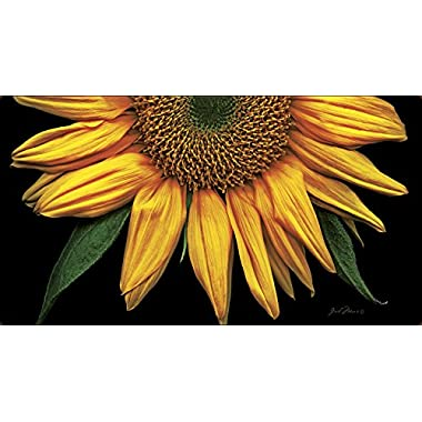 Toland Home Garden Sunflowers on Black 20 x 38-Inch Decorative USA-Produced Anti-Fatigue Standing Desk Comfort Designer Mat