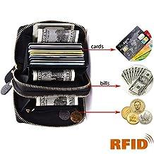 Credit Card Wallet, Minicastle Rfid Genuine Leather Credit Card Holder for Women