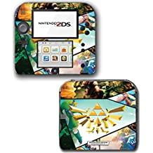 Legend of Zelda Breath of the Wild Majora's Mask 3D Special Edition Hyrule Gold Twilight Princess HD Video Game Vinyl Decal Skin Sticker Cover for Nintendo 2DS System Console