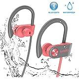 Bluetooth Headphones, Letsfit Wireless Headphones, IPX7 Waterproof Sports Earphones Gym Running, HD Stereo Headset w/Mic, 8 Hours Battery Noise Cancelling Bluetooth Earbuds